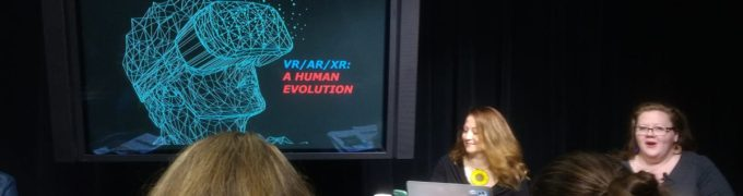 Co-founder, Kathy Bisbee, shares her vision for Community VR/XR at the Alliance for Community Media's Northwest conference in Portland, OR
